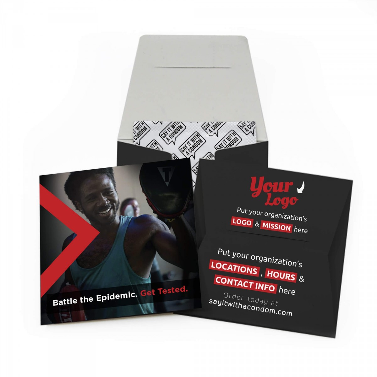 Fight Back Fight HIV Condom Wallet - Battle the Epidemic