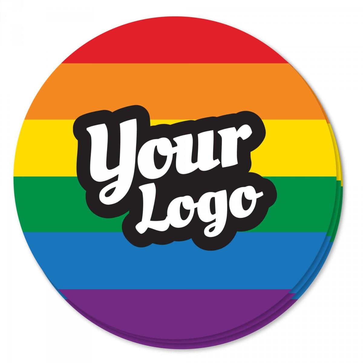 Pride Flag Sticker - Circle