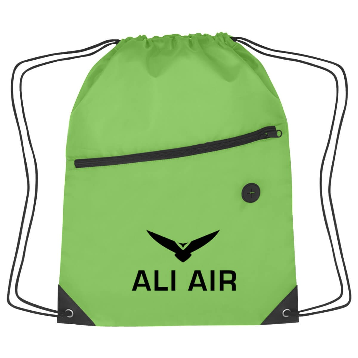 Promotional Drawstring Zippered Sports Pack