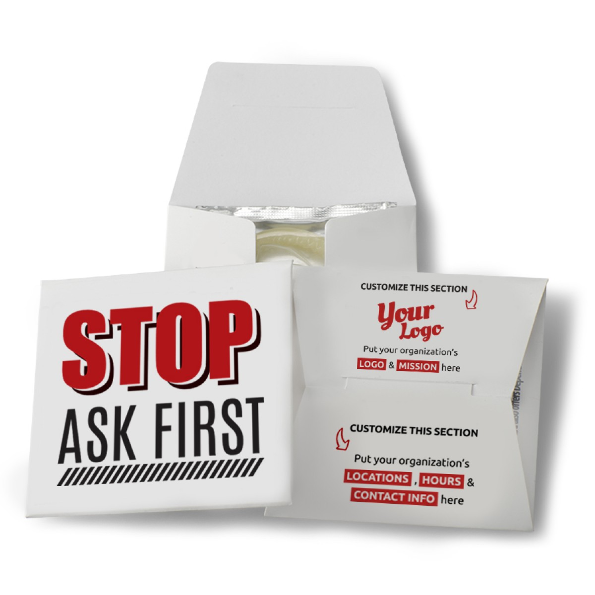 Stop Ask First Condom Wallet