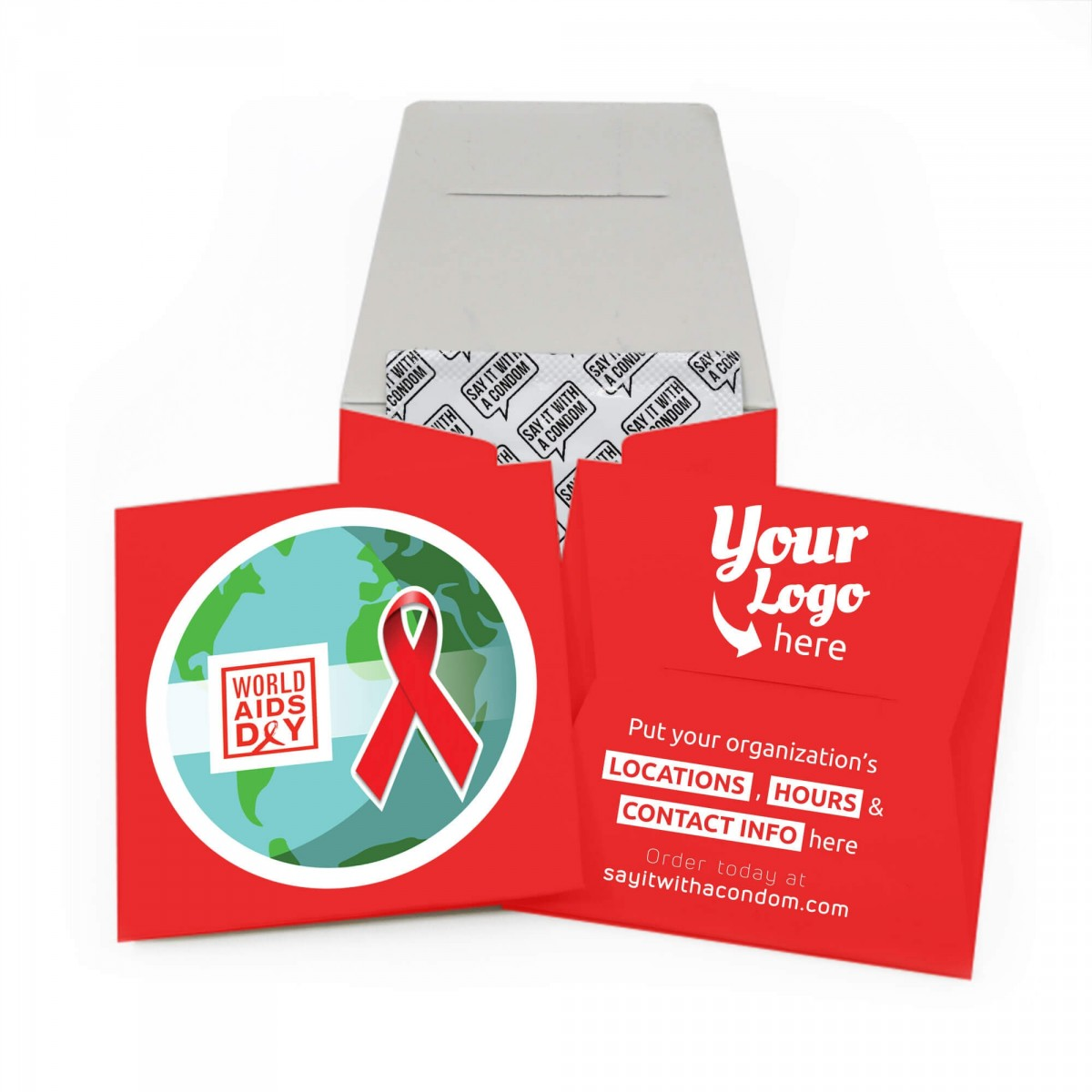 World AIDS Day Condom Wallet - Earth Design