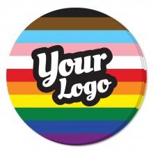 Pride Inclusive Flag Sticker - Circle