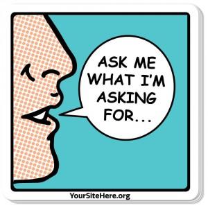 Ask Me Sticker - Male