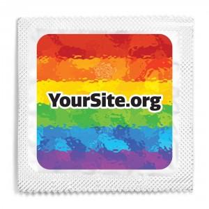 Gay Pride Painted Condom