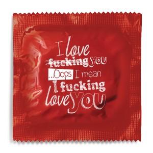 I Fucking Love You Condom