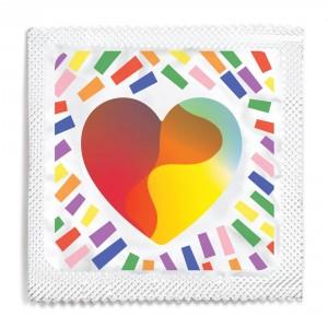LGBTQ Pride Heart Condom