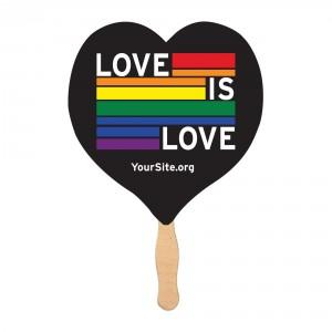 Love Is Love Gay Pride Mini Fan