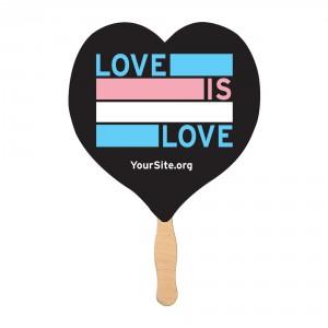 Love is Love Trans Pride Mini Fan