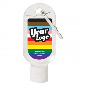 Pride Inclusive Flag Hand Sanitizer Carabiner