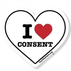 I Love Consent Sticker