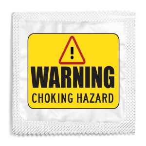 Warning Choking Hazard Condom