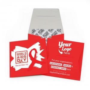 World AIDS Day Condom Wallet - Brush Logo Design