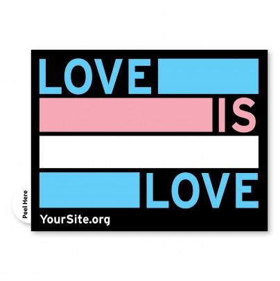 Love Is Love Trans Pride Sticker