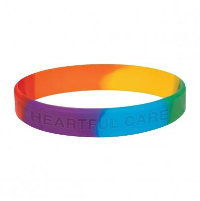 Rainbow Wristbands 1/2 Inch