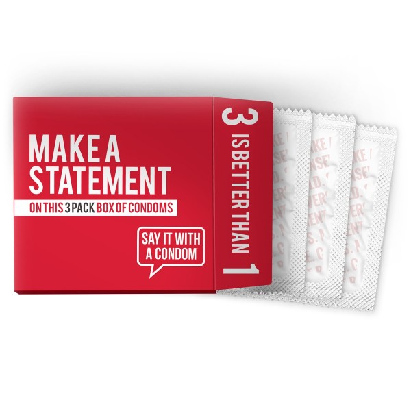 Custom 3 Pack Condom Box
